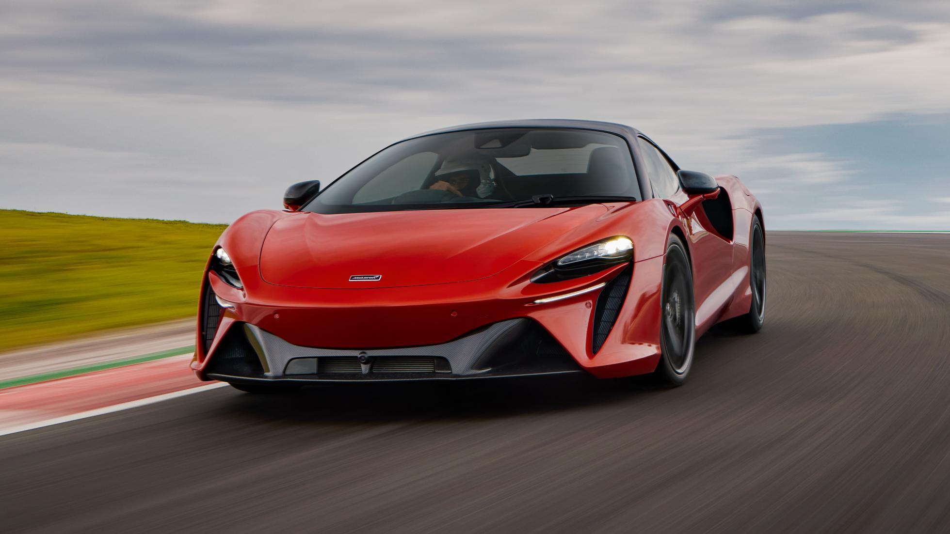 McLaren Artura angled front view