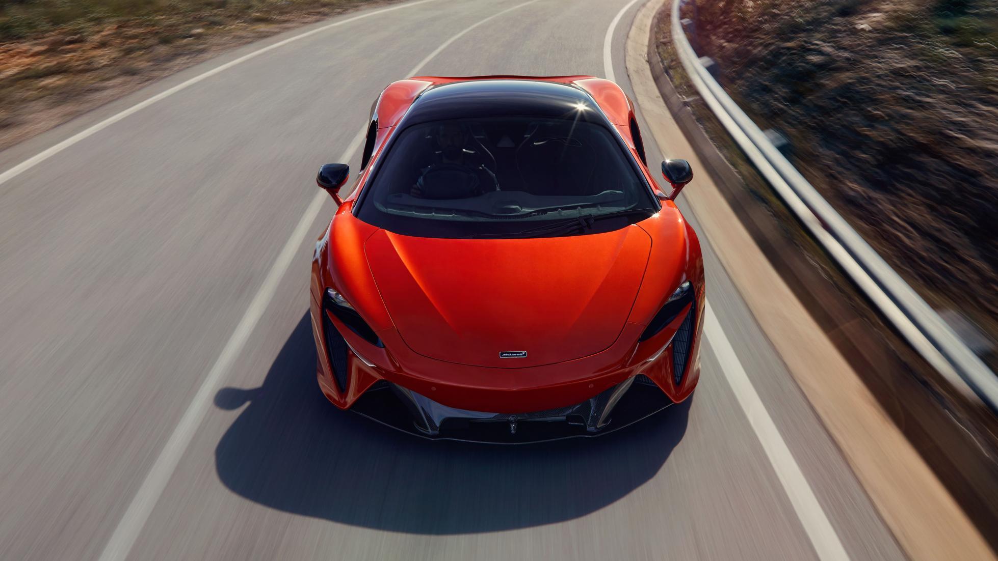 McLaren Artura front view top angle