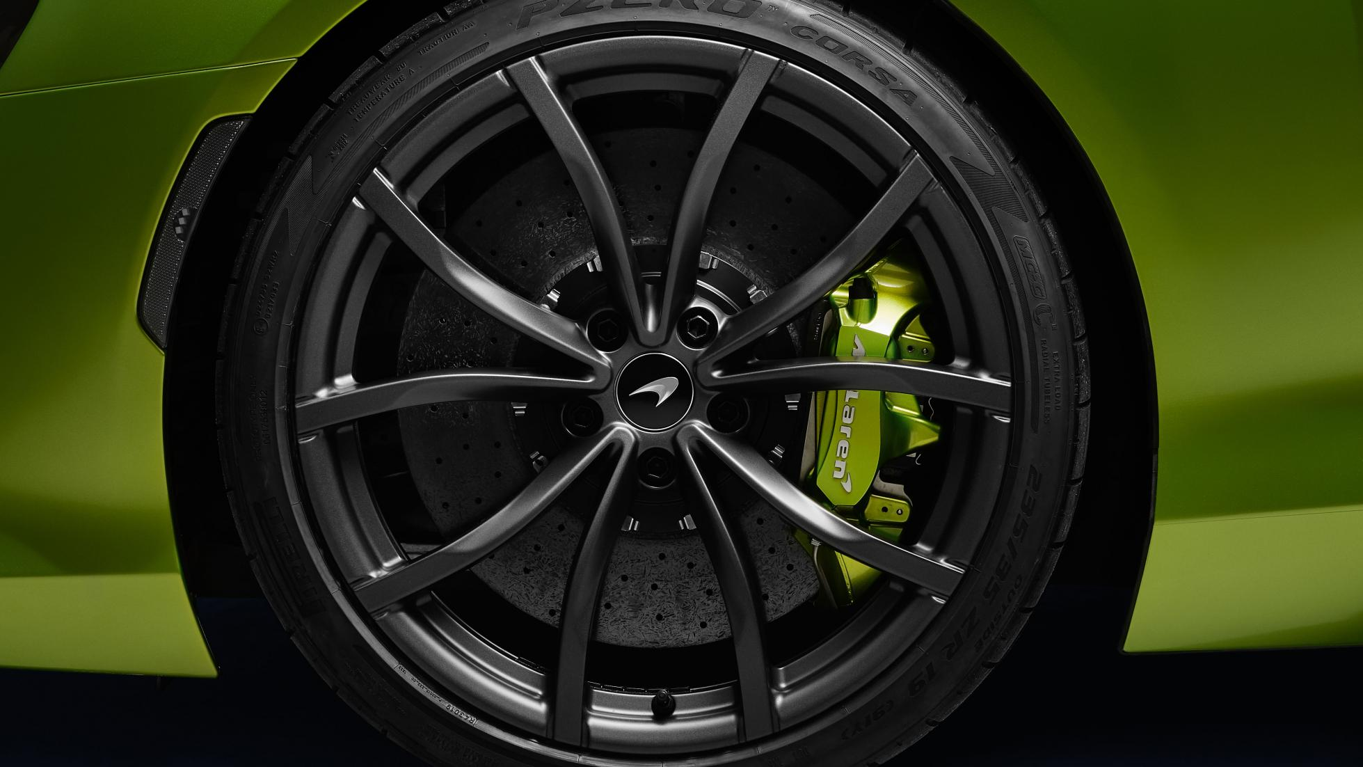 McLaren Artura in Flux Green wheels