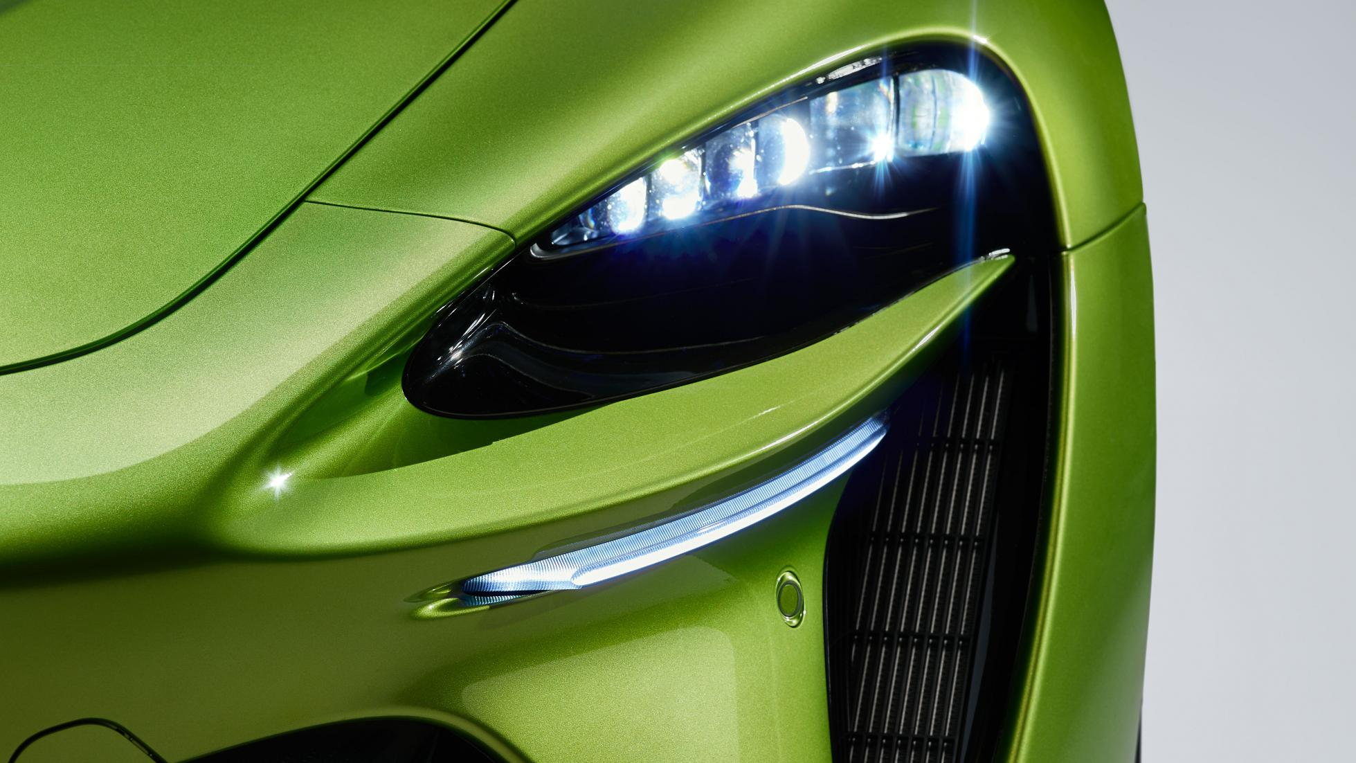 McLaren Artura in Flux Green headlight