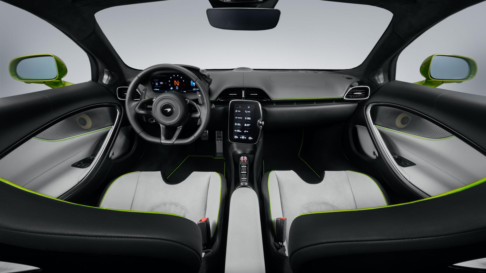 McLaren Artura in Flux Green dashboard feature