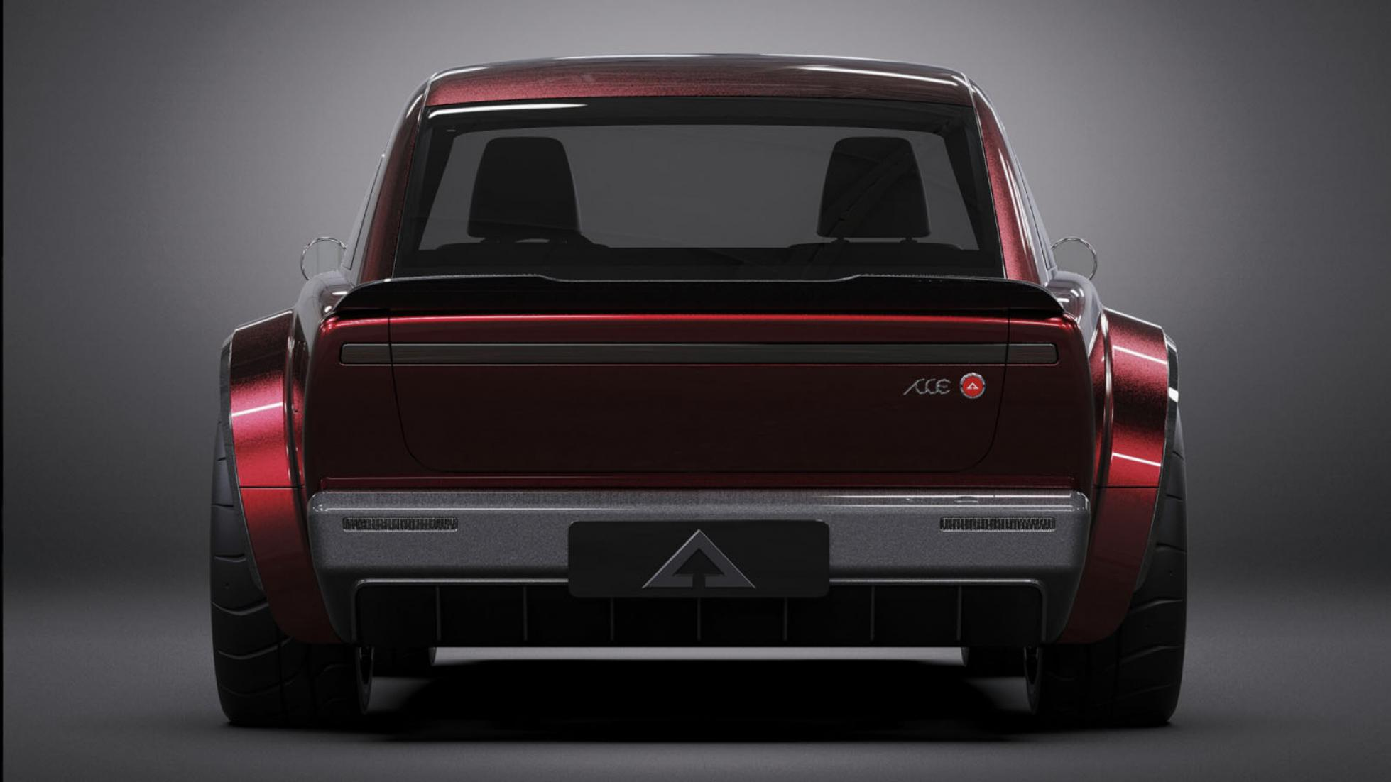Alpha Jax red rear view