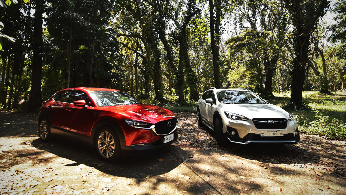 The Subaru XV GT Edition and the Mazda CX-30 AWD Sport AT