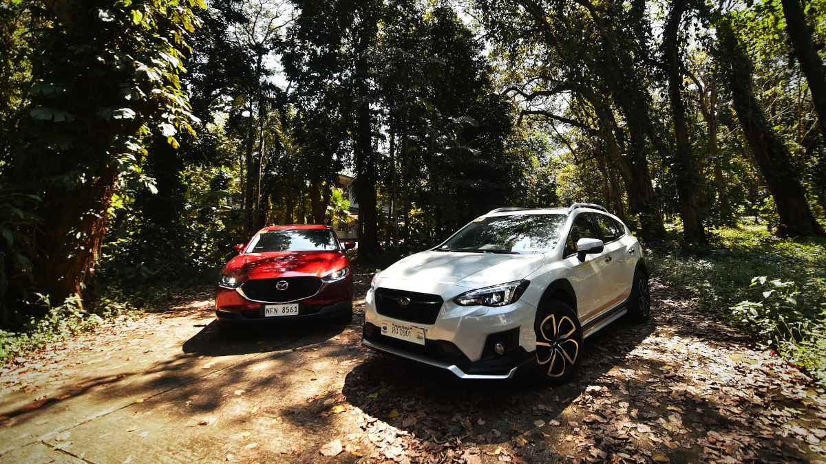 The Subaru XV GT Edition and the Mazda CX-30 AWD Sport AT parked