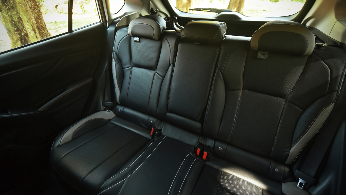 The Subaru XV interior rear passenger seats
