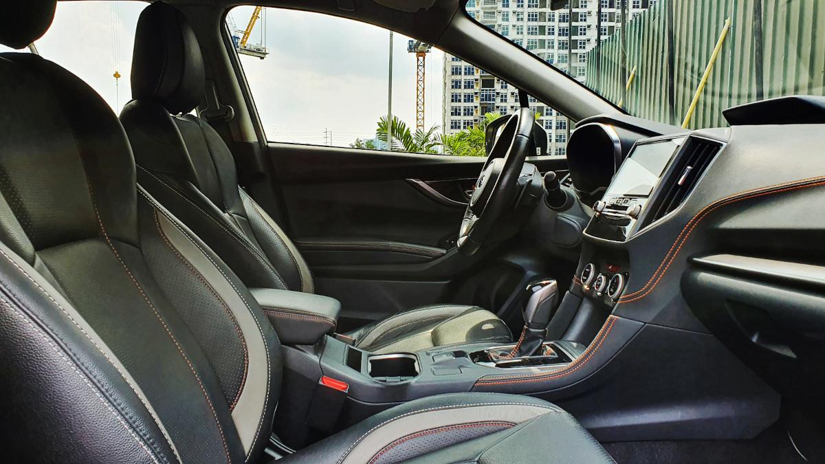The Subaru XV front passenger seats