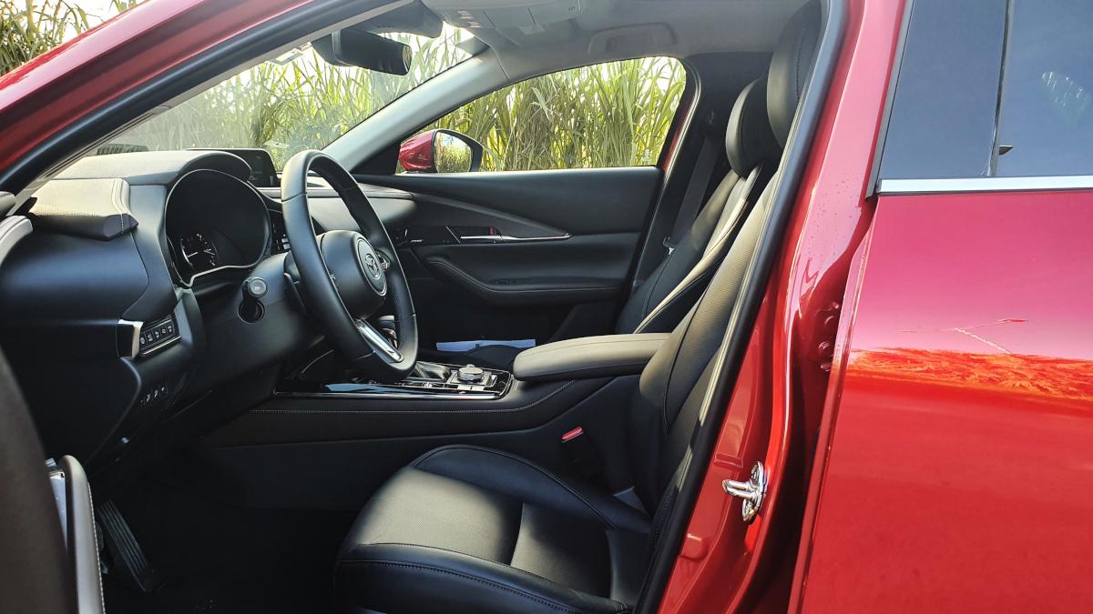 The Mazda CX-30 front passenger seats