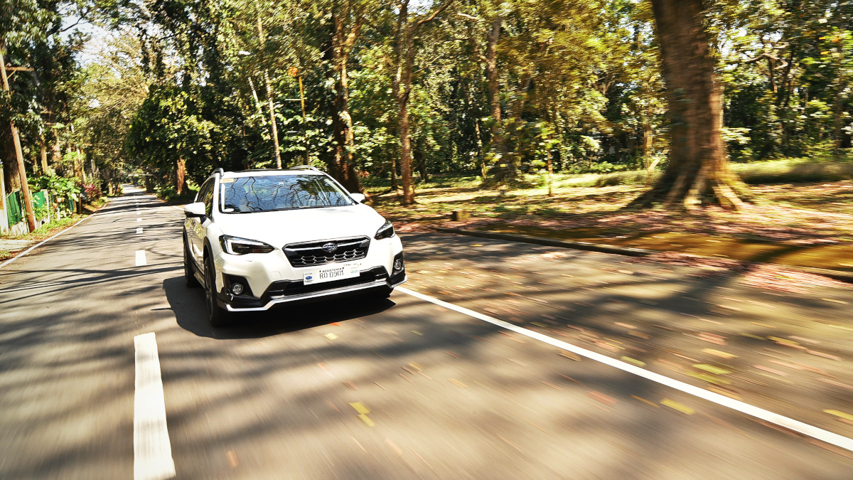 Subaru XV GT Edition on the road