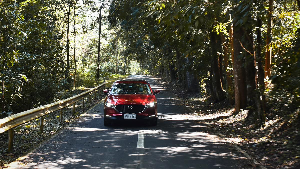 The Mazda CX-30 on the road