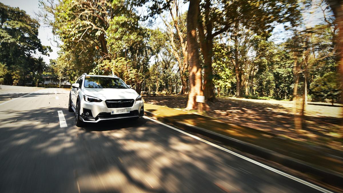 The Subaru XV on the road