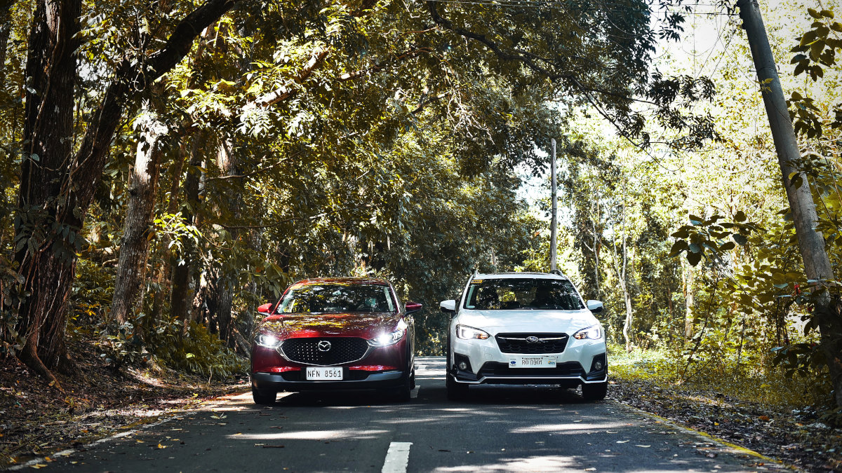 The Subaru XV GT Edition and the Mazda CX-30 AWD Sport AT side by side