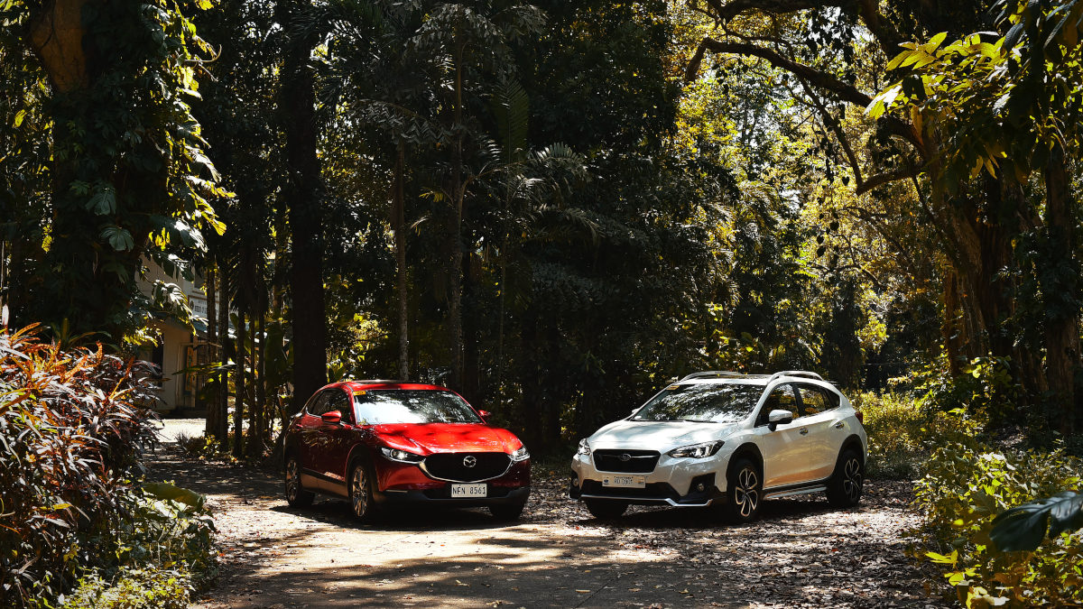 The Mazda CX-30 and the Subaru XV side by side