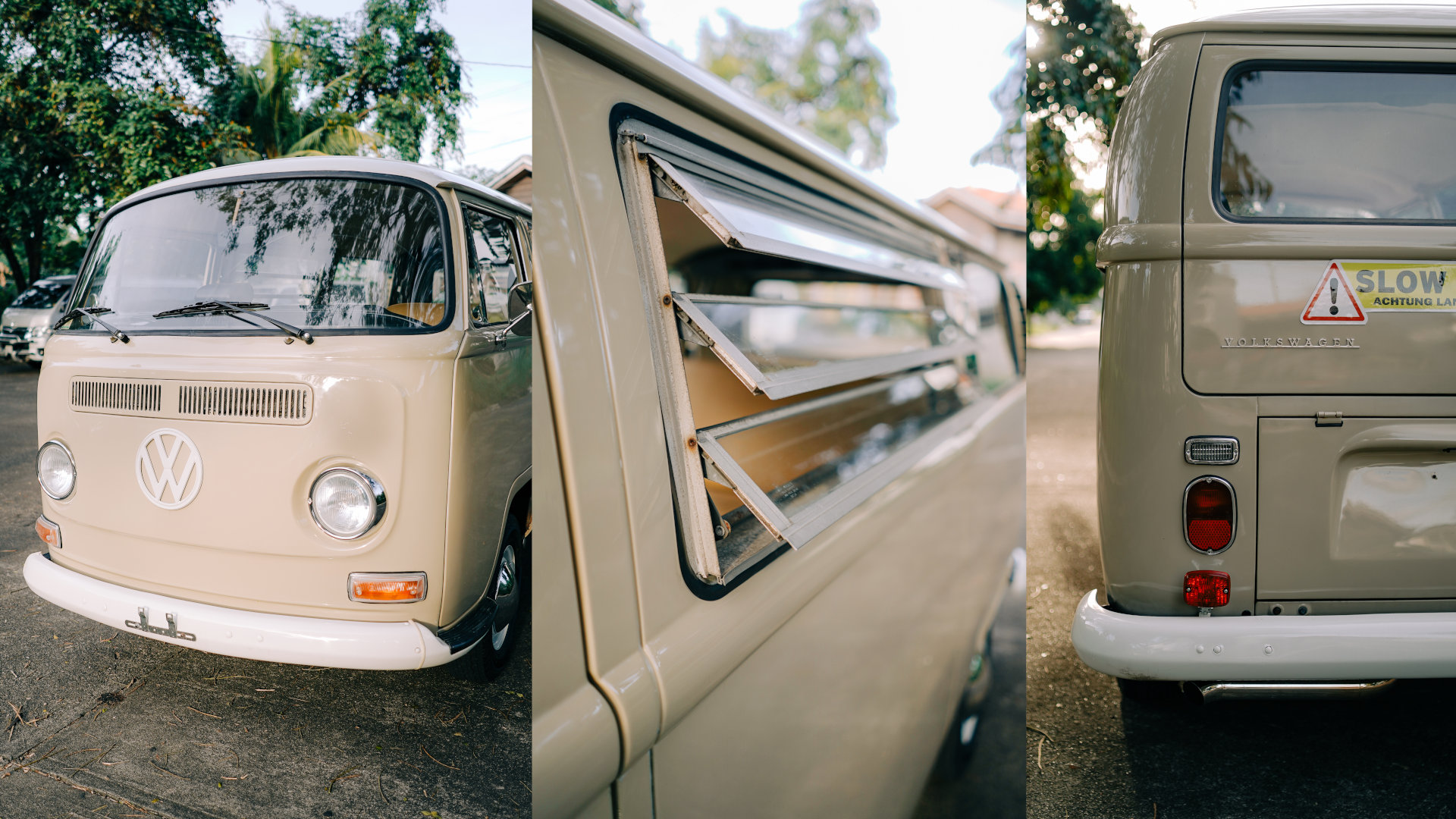Volkswagen Type 2 front, windows, and rear features