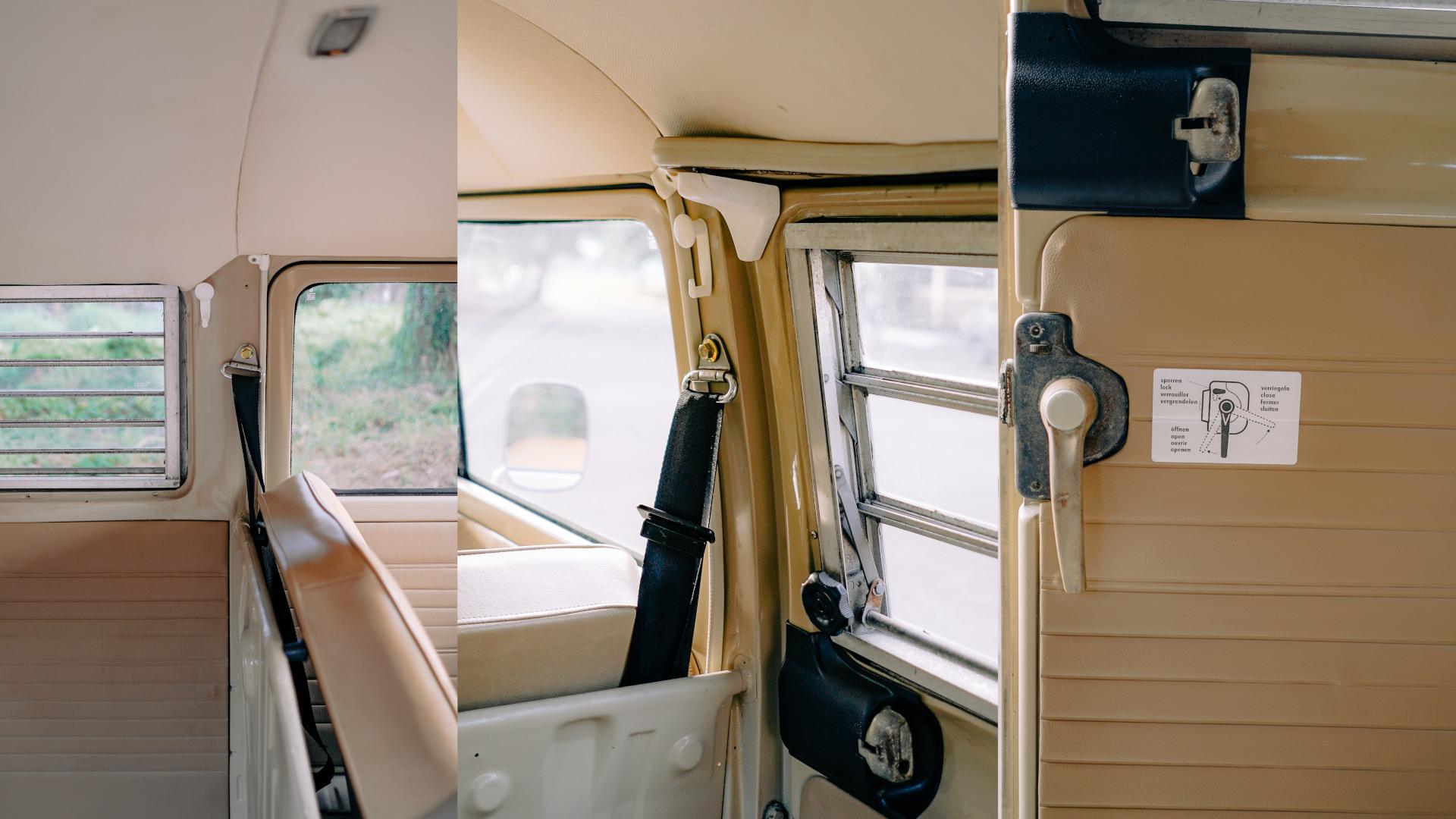 Volkswagen Type 2 seatbelts and door handle