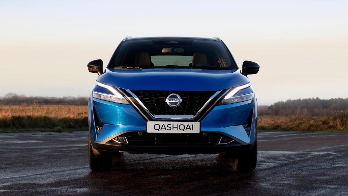 The Nissan Qashqai front view