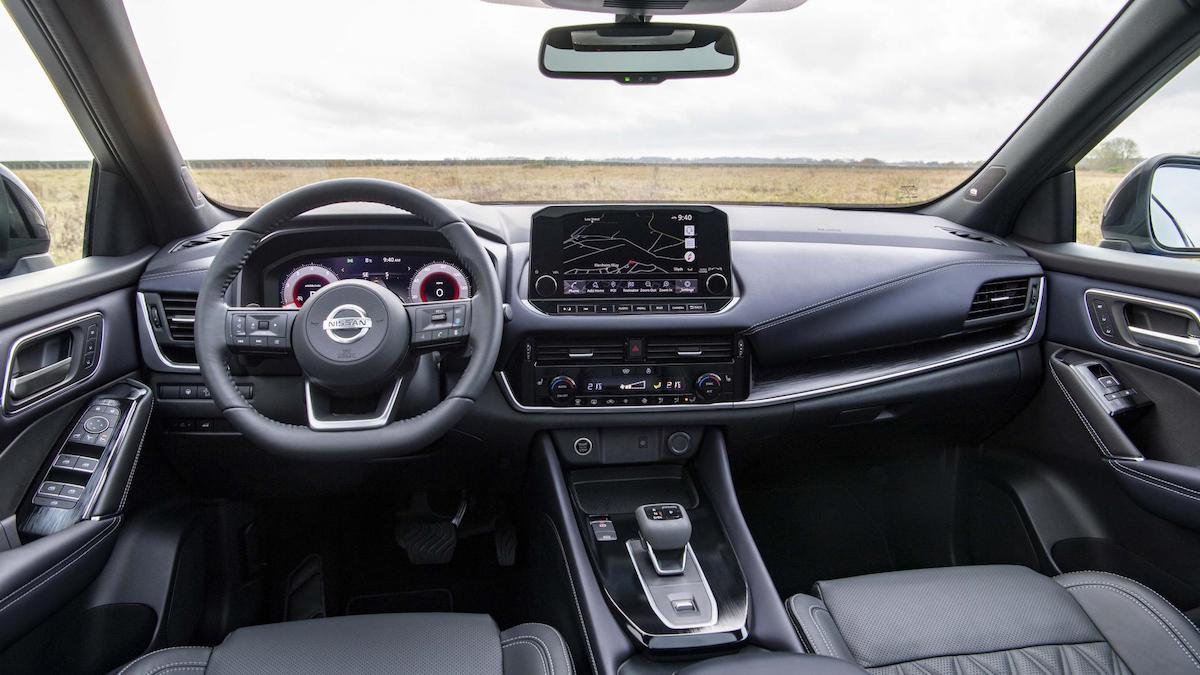 The Nissan Qashqai dashboard