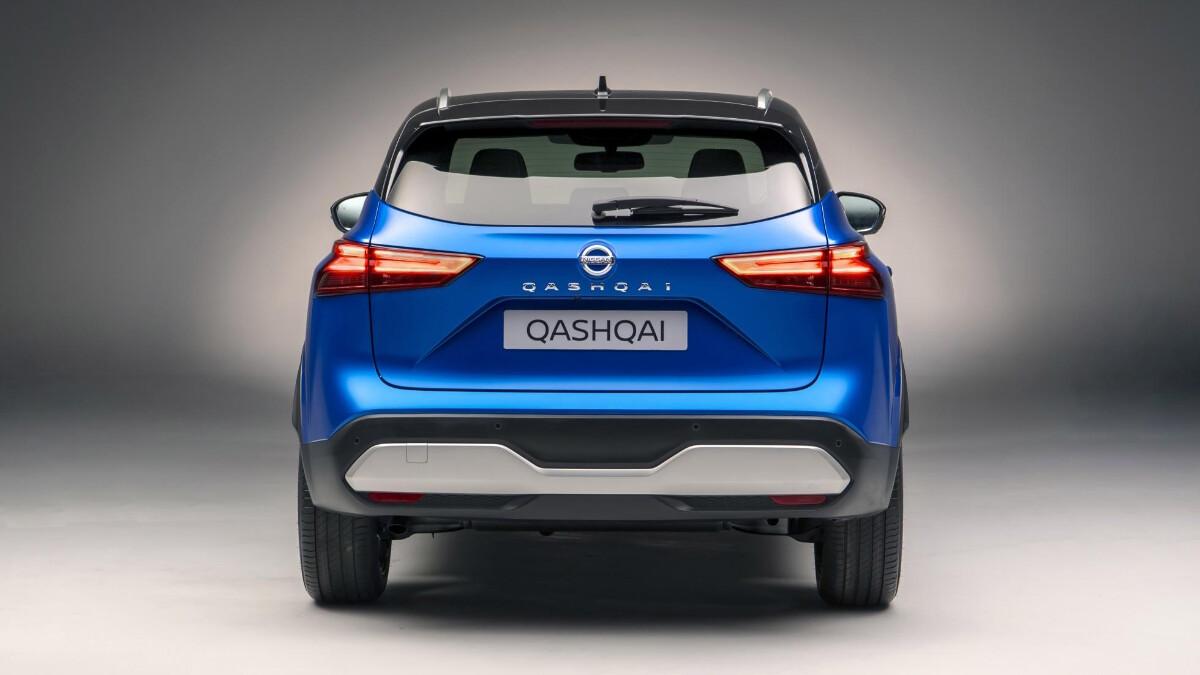 The Nissan Qashqai rear view
