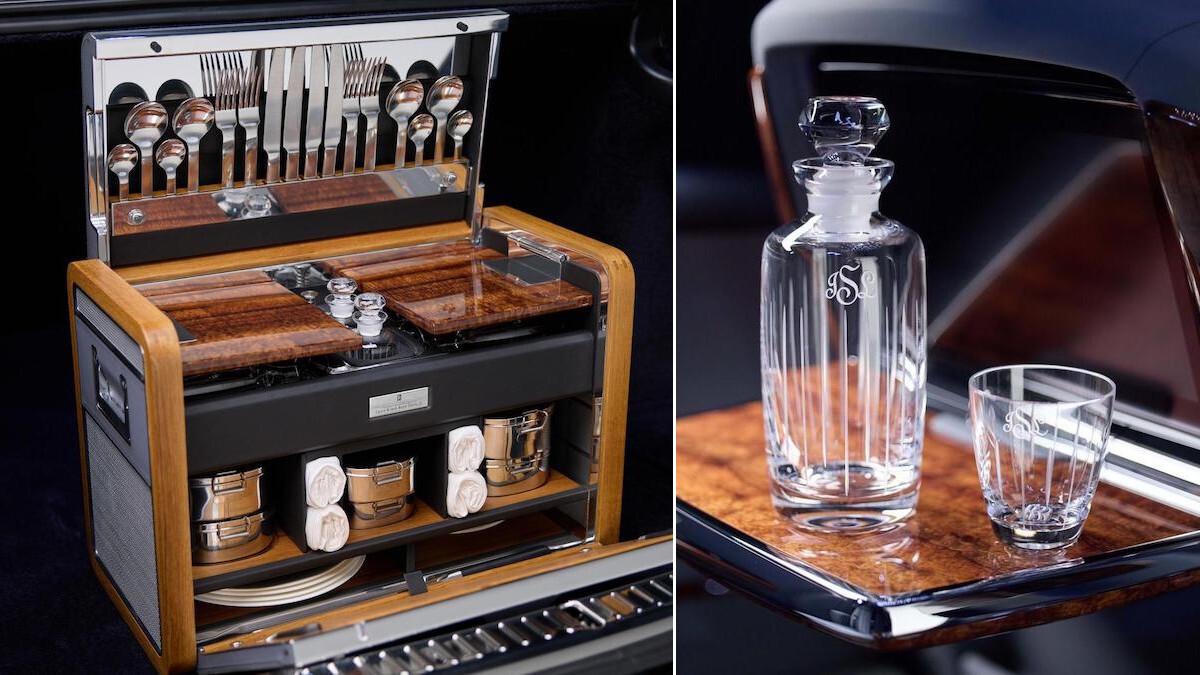 Rolls-Royce Phantom interior features made of Koa wood