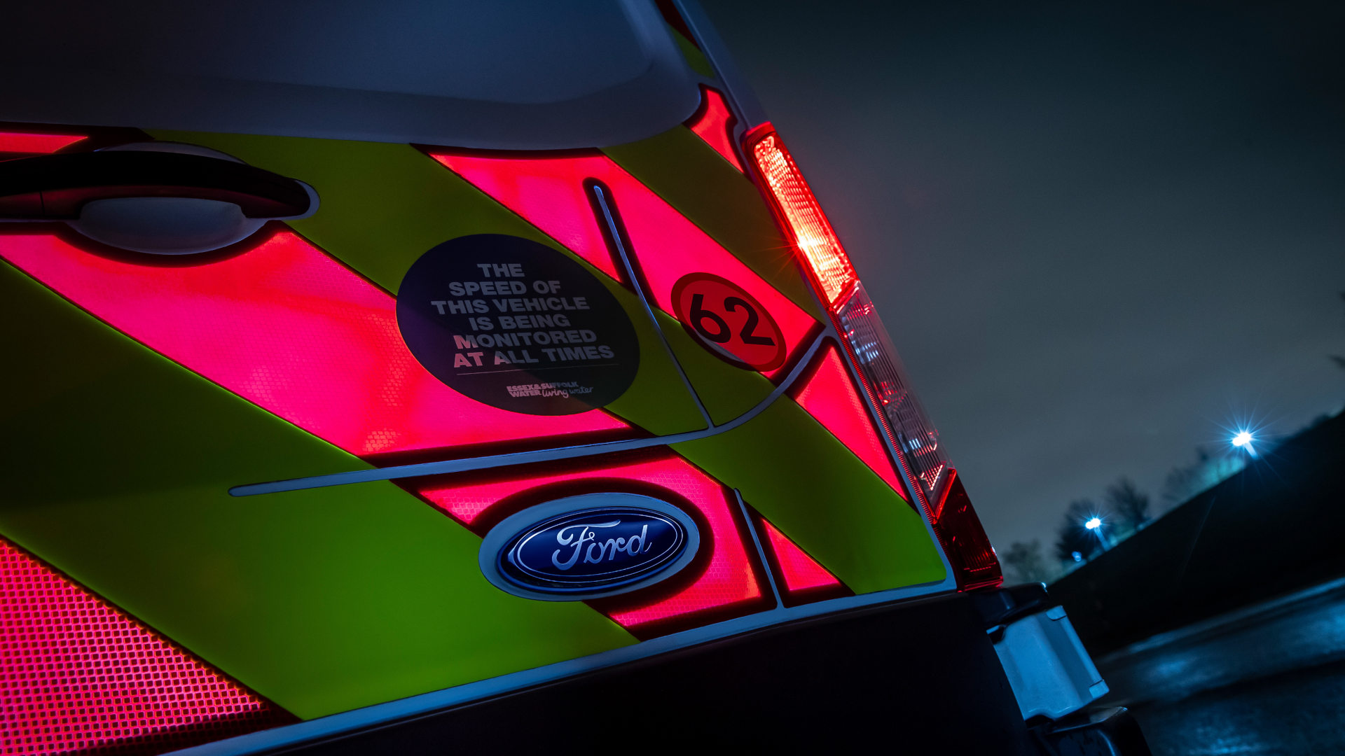 Ford's Electronic High Visibility Panels up close