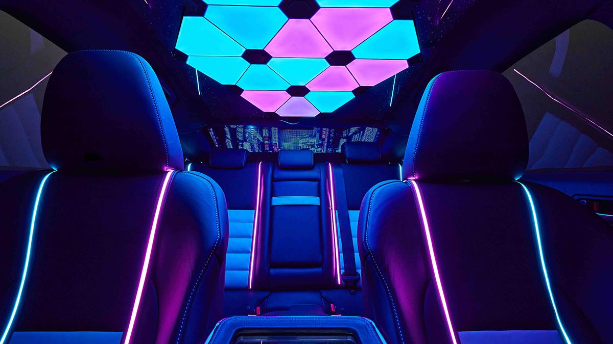 Lexus IS350 F Sport RGB LED lit interior