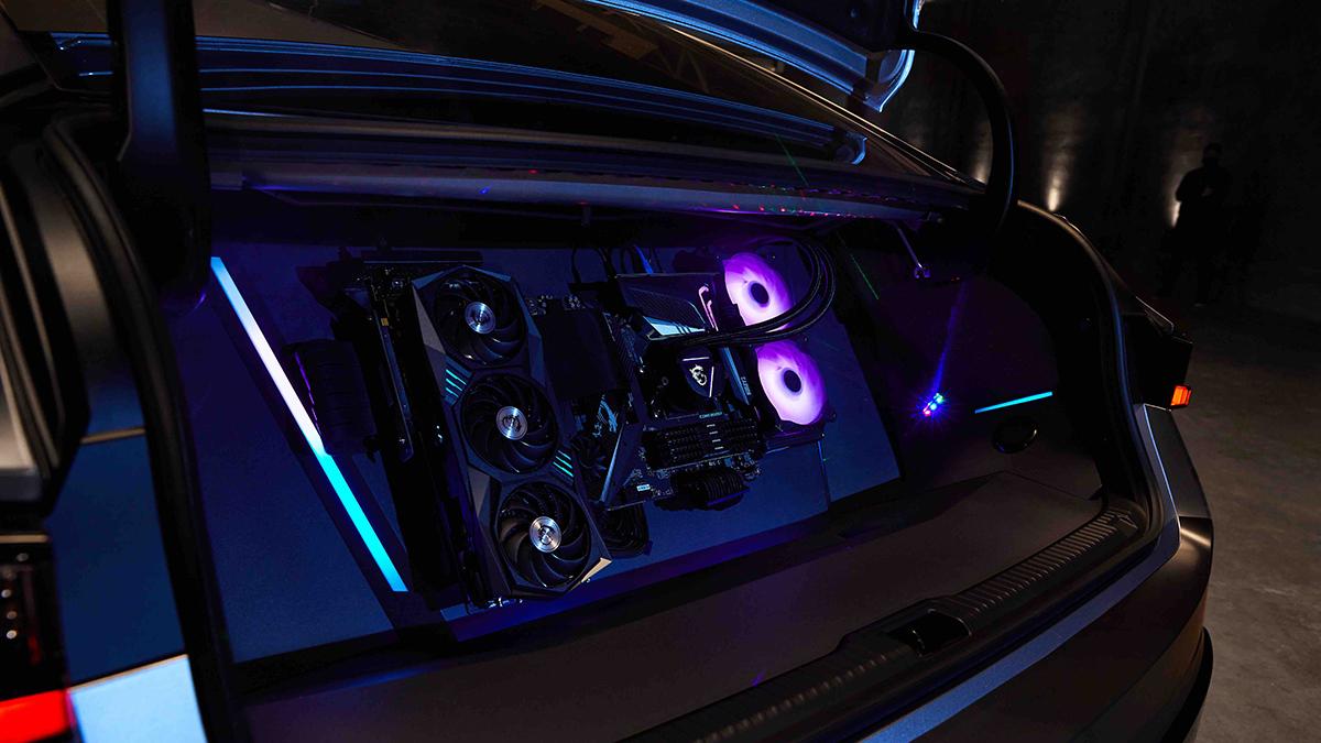 Lexus IS350 F Sport with a MSI Geforce GPU and an AMD CPU