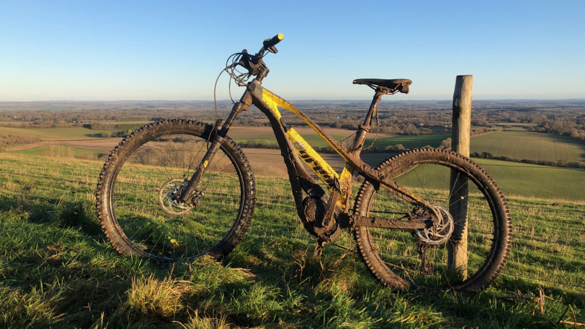 The Greyp G6 e-MTB after a long day's run