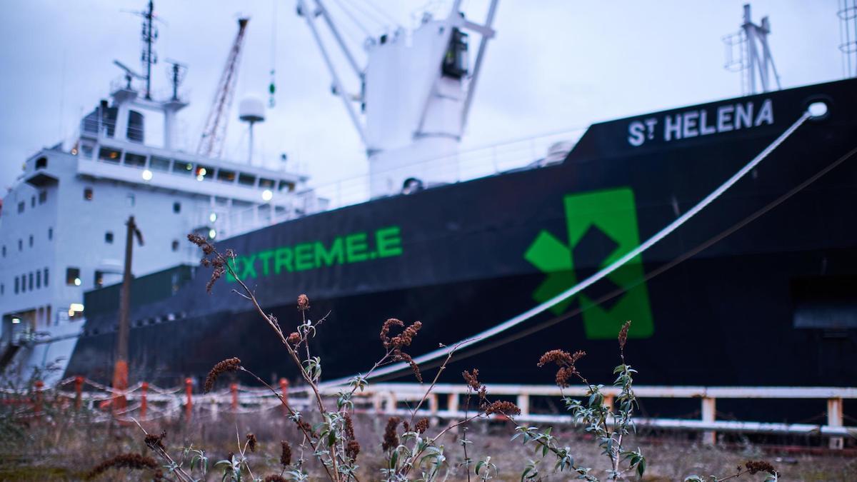 Extreme E's 'floating paddock,' the St. Helena
