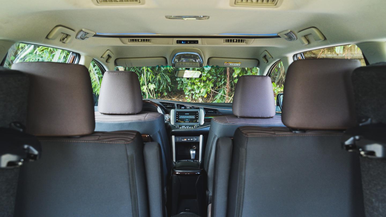 The 2021 Toyota Innova rear seat POV