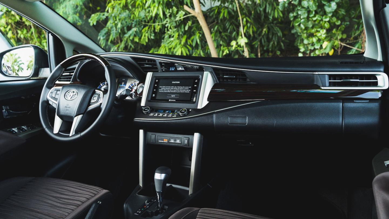 The 2021 Toyota Innova dashboard front passenger POV