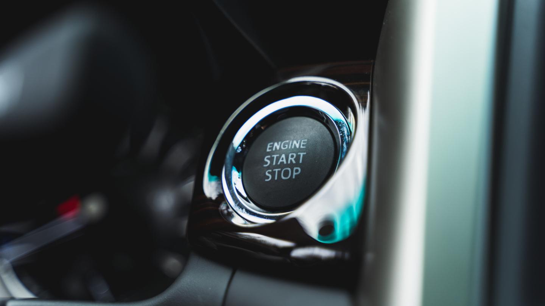 The 2021 Toyota Innova start engine button