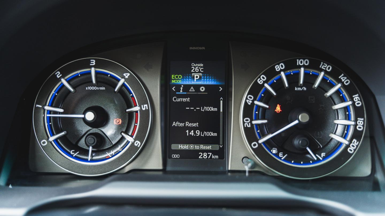 The 2021 Toyota Innova odometers