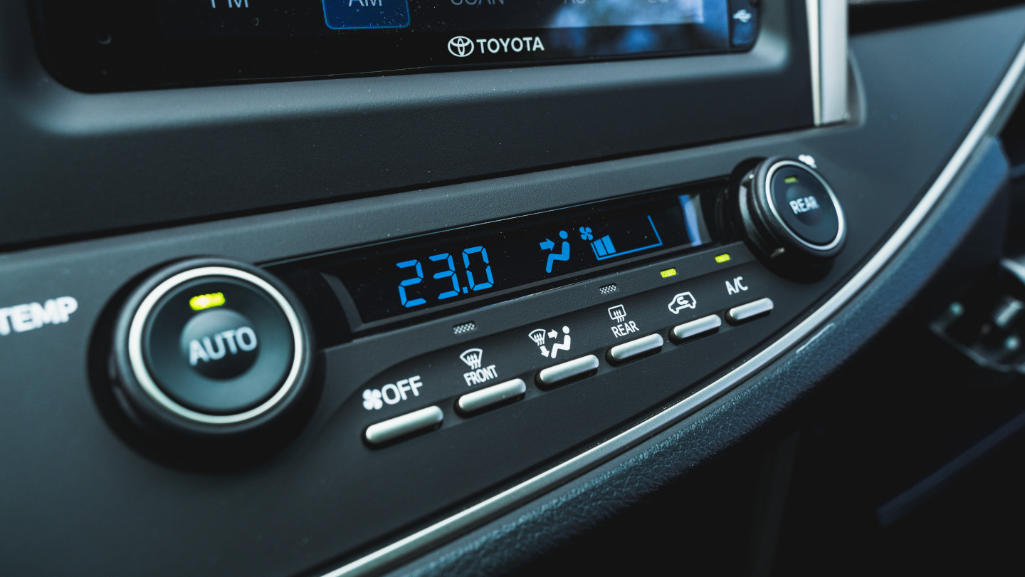 The 2021 Toyota Innova media panel controls