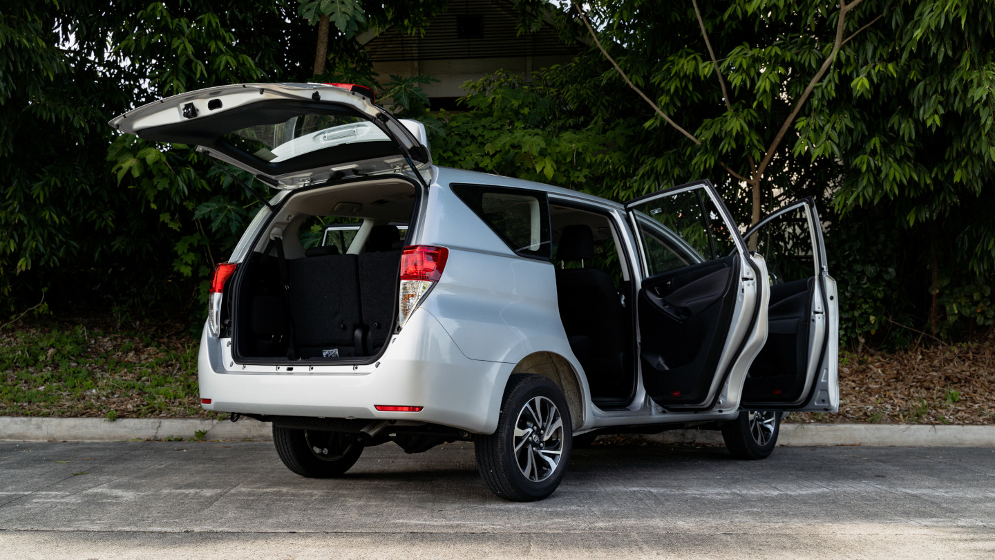 The 2021 Toyota Innova in Freedom White All Doors Opened