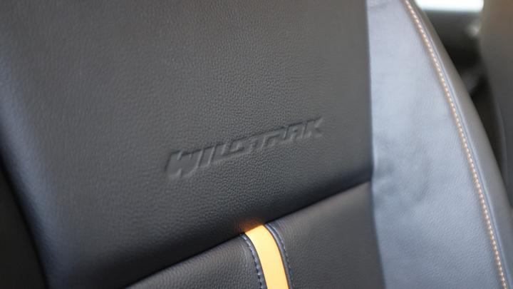 Ford Ranger Wildtrak upholstery detail