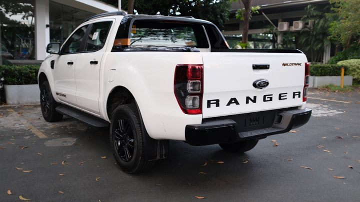 Ford Ranger Wildtrak angled rear view