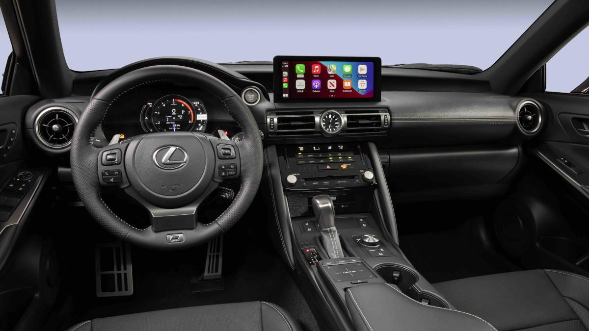 2022 Lexus IS500 F Sport Performance dashboard