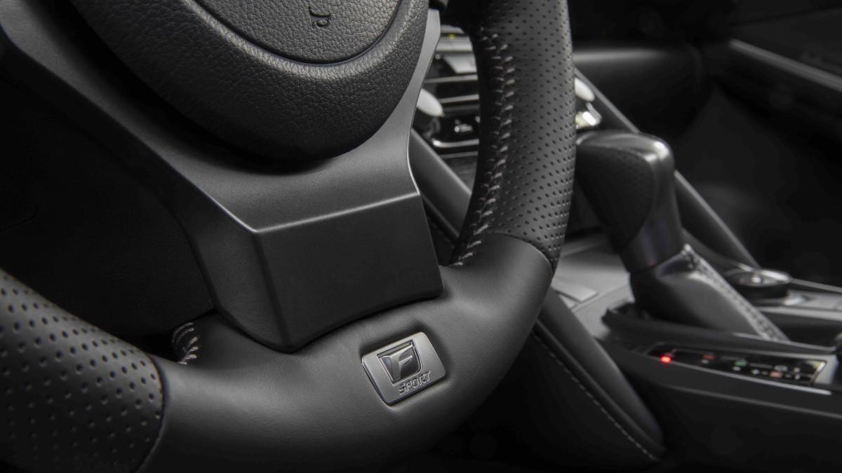 2022 Lexus IS500 F Sport Performance steering wheel detail