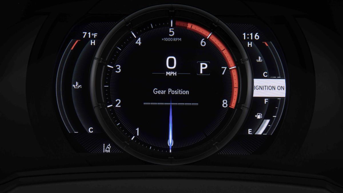 2022 Lexus IS500 F Sport Performance odometer