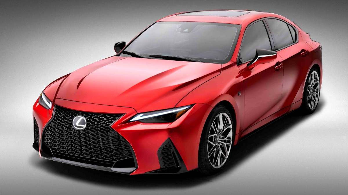 2022 Lexus IS500 F Sport Performance angled front view
