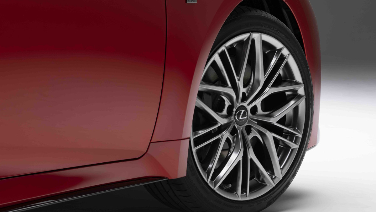 2022 Lexus IS500 F Sport Performance tire close up
