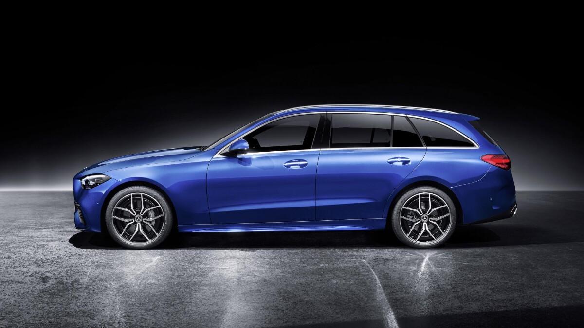 Mercedes-Benz C-Class in Blue Profile