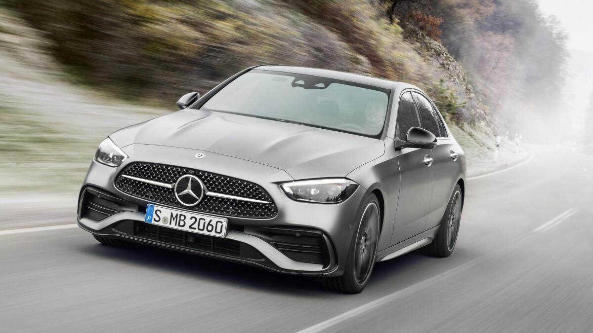 The Mercedes-Benz C-Class in Grey