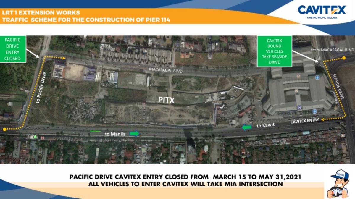 Cavitex Traffic Scheme for The Pier 114 Construction