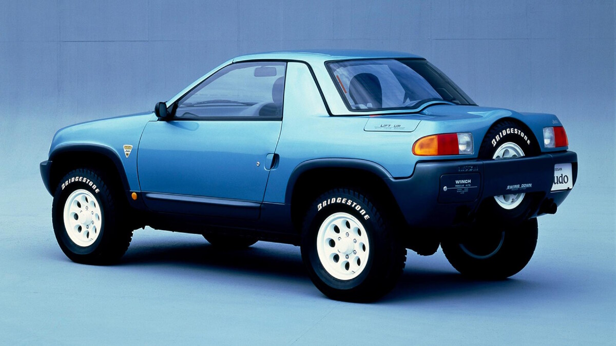 The Nissan Judo angled rear view