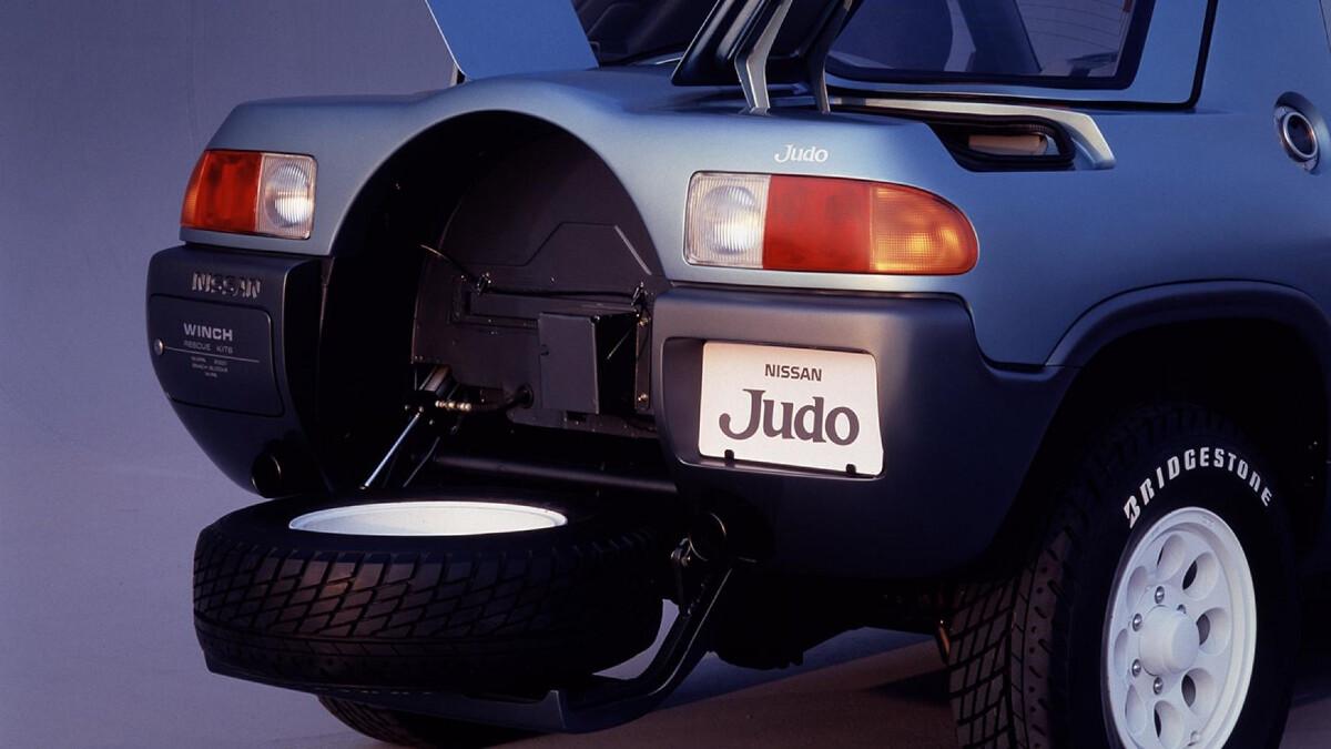 The Nissan Judo spare tire storage