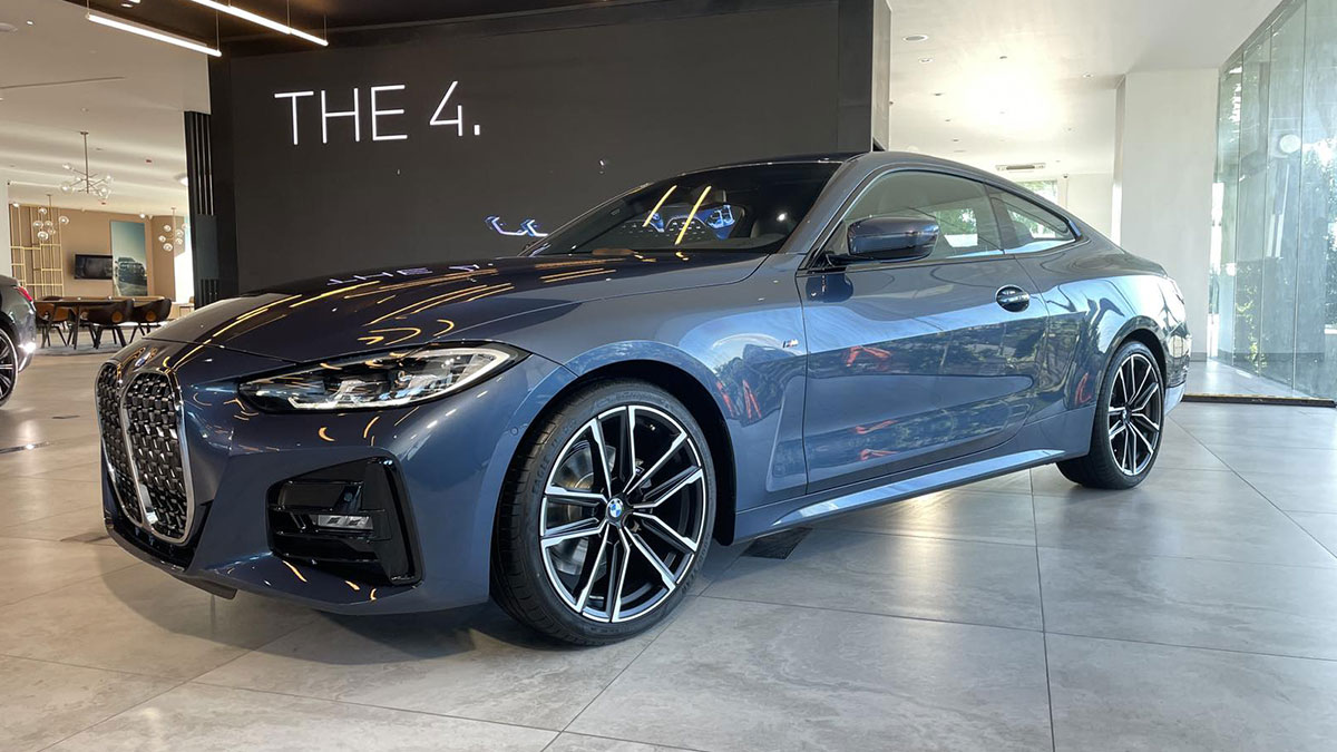 The BMW 4-Series as displayed in a showroom