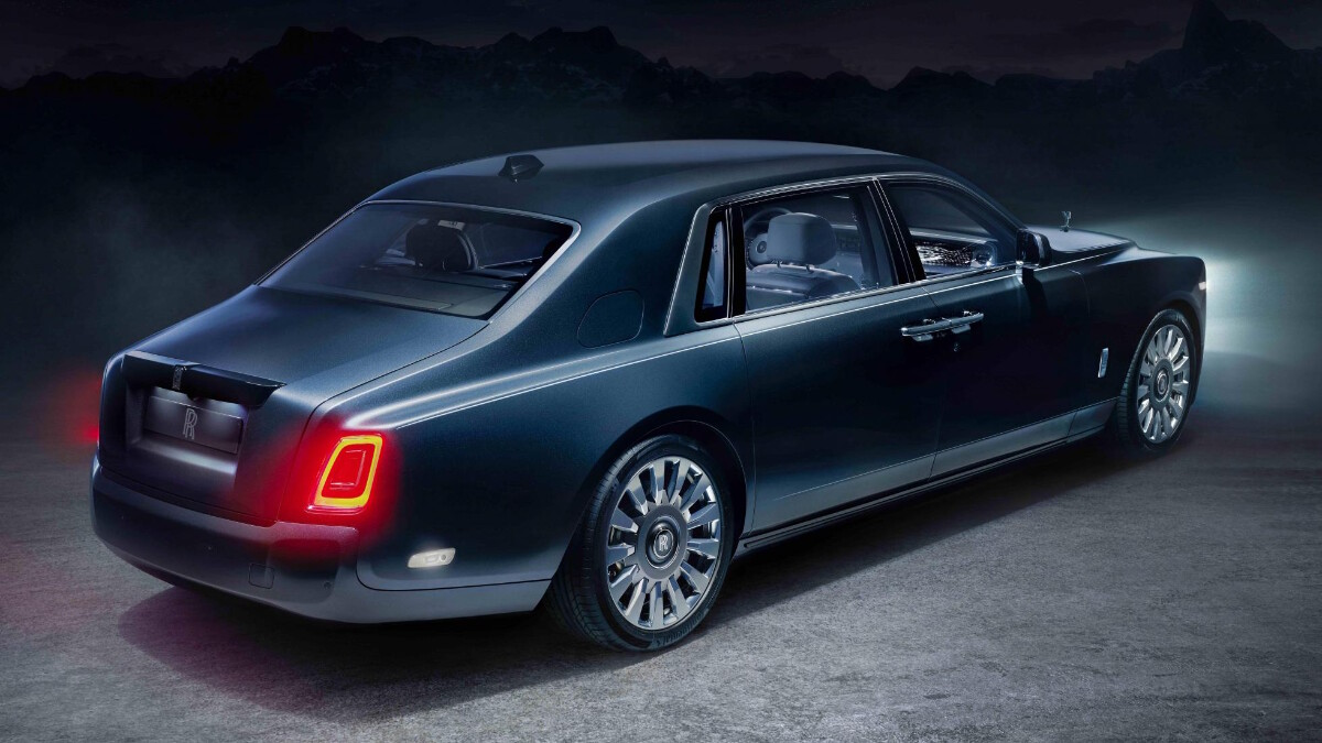 Rolls-Royce Phantom Tempus Collection angled rear view