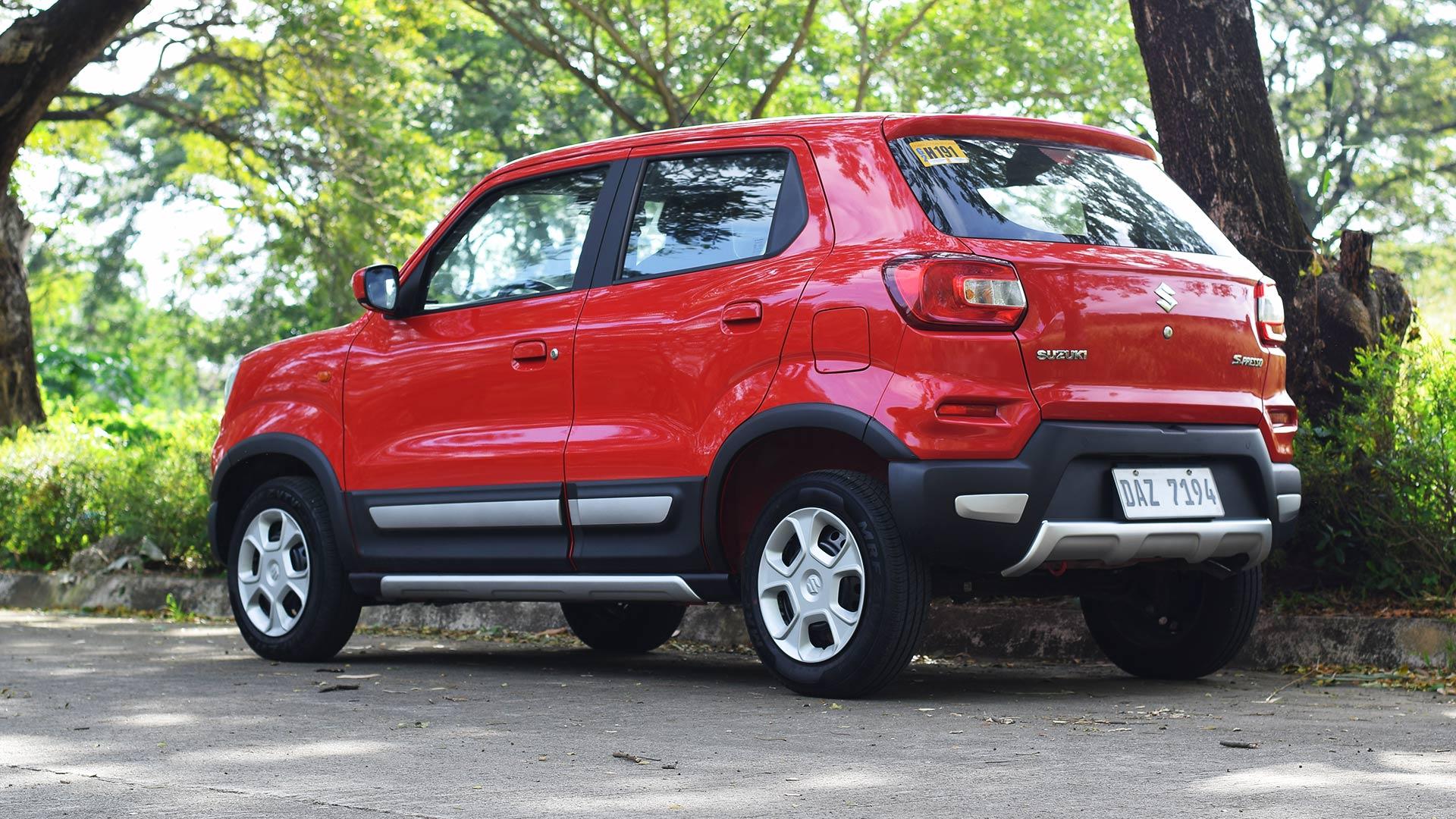 The Suzuki S-Presso parked rear view