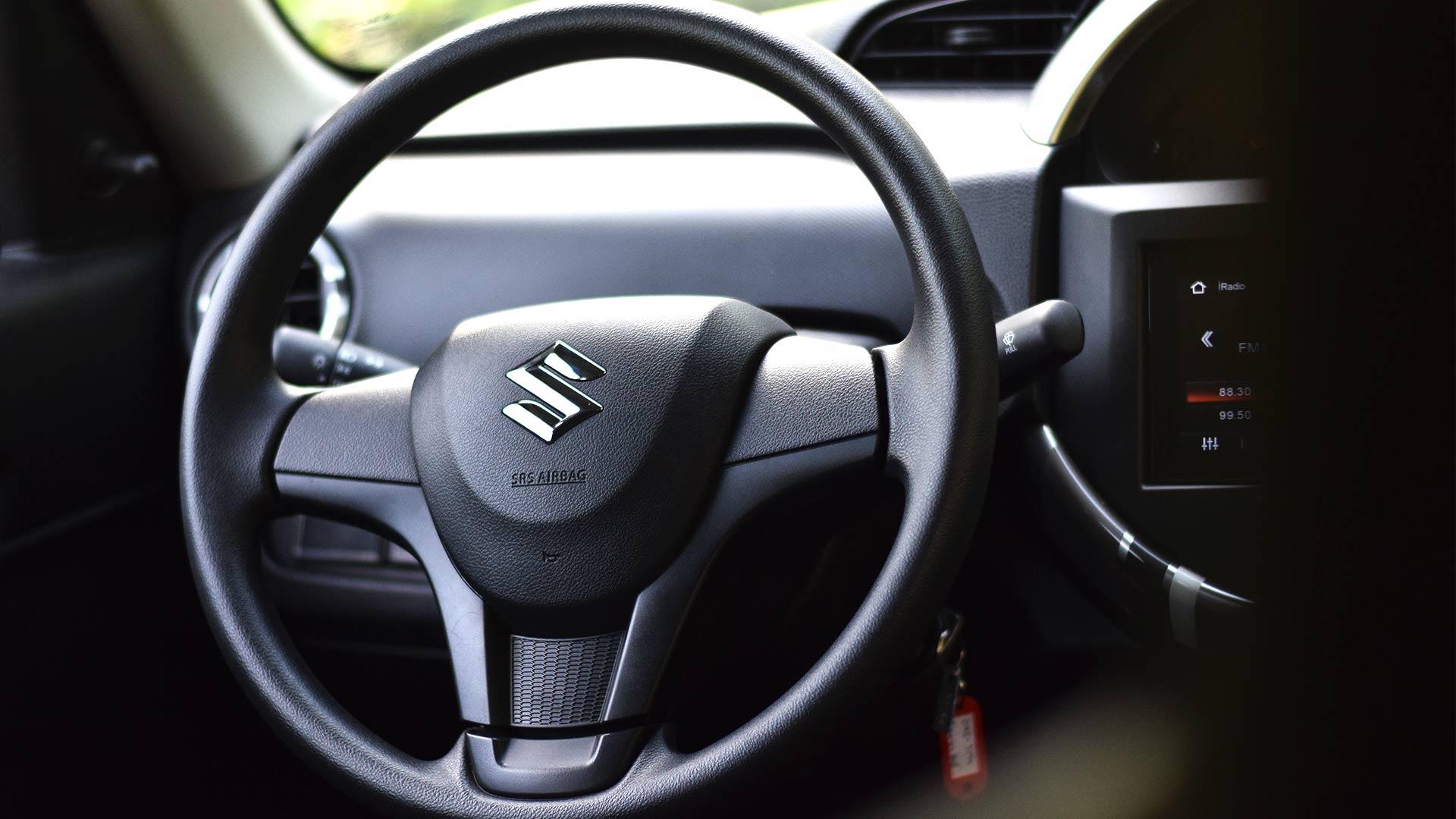 The Suzuki S-Presso steering wheel