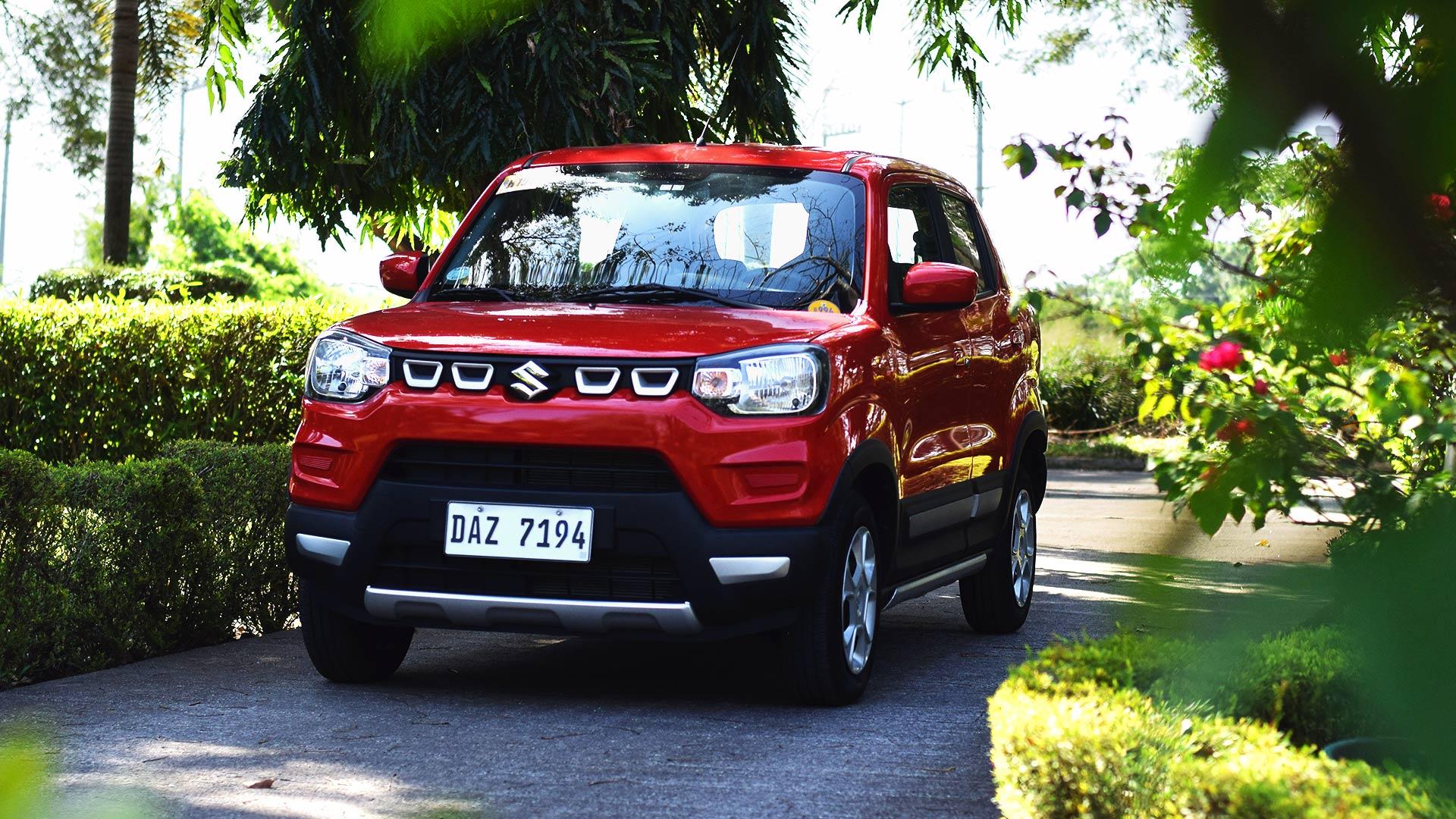The Suzuki S-Presso front view parked